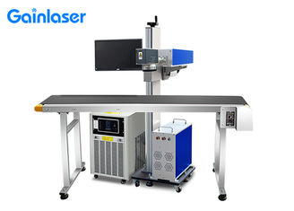 5W 0.15mm Flying UV Laser Marking System With Conveyor Belt